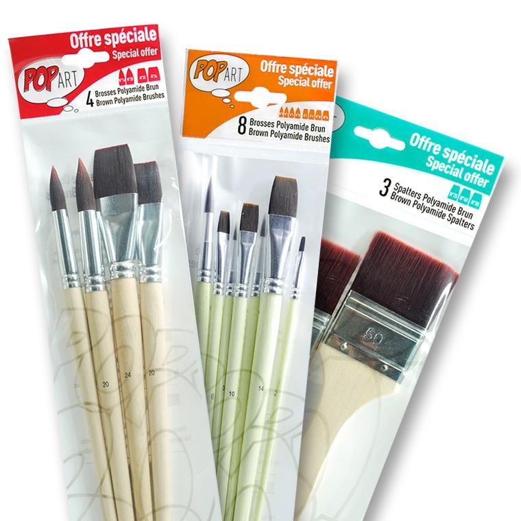 pennelli per colori acrilici economici