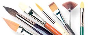 pennelli per acquerello colori acrilici