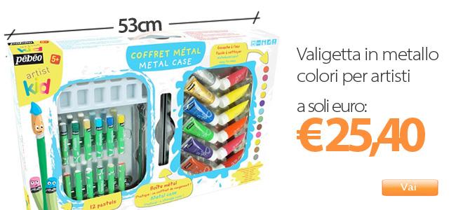 cassettina colori per bimbi cassettina tecniche pittura per bambini