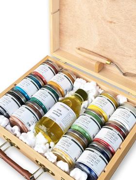 confezioni pigmenti in polvere per colori acrilici negozio di belle arti a firenze